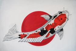 world cup artwork japan koi fish natalie