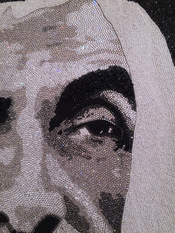 HH Sheikh Zayed Abu Dhabi Natalie Daghestani Swarovski Art1