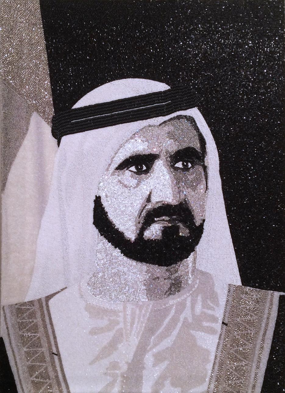 HH Sheikh Mohammed Maktoum Dubai Natalie Daghestani Swarovski Art2
