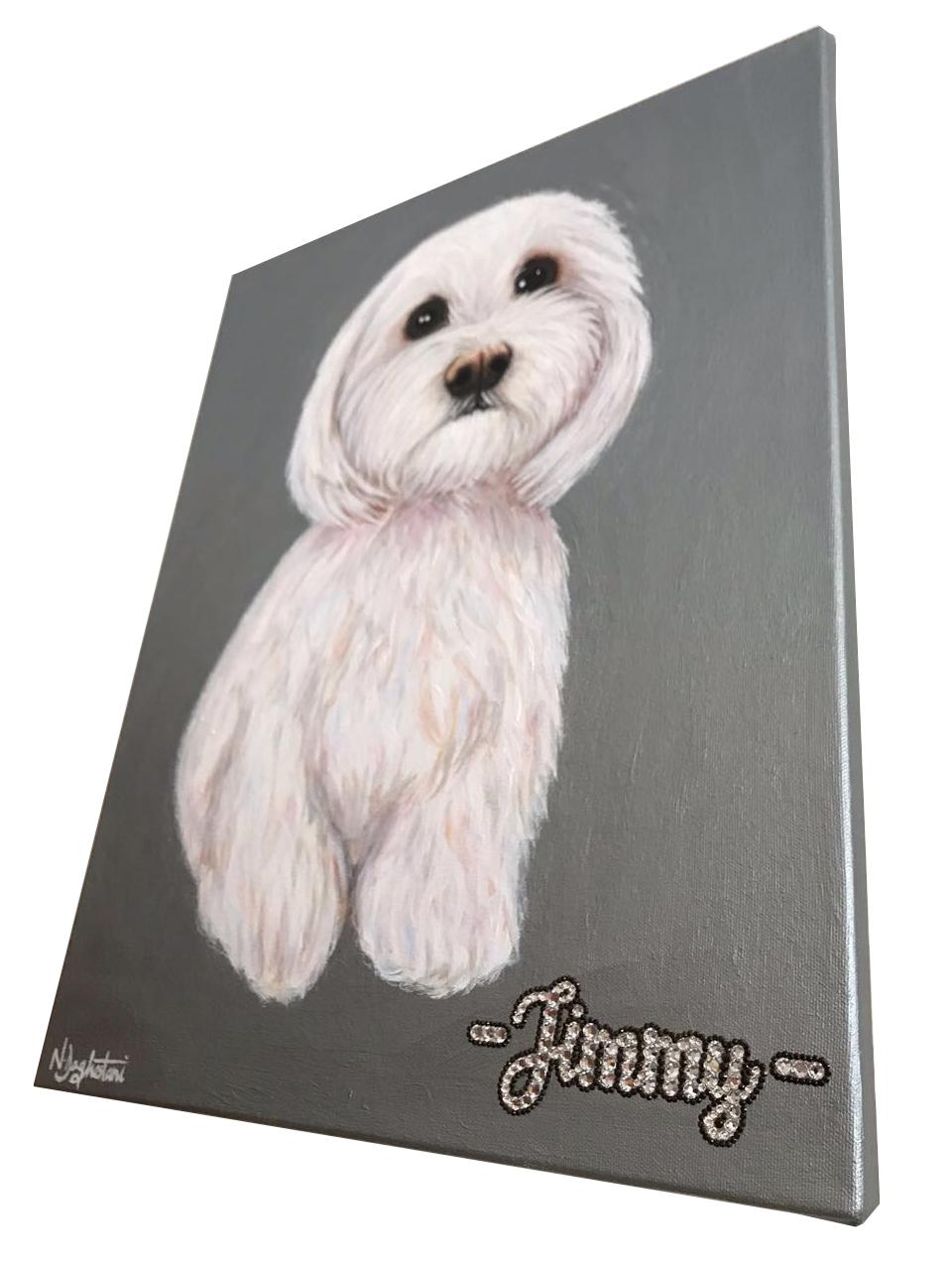 Jimmy Dog Pet Portrait Natalie Daghestani Art Dubai Artist6