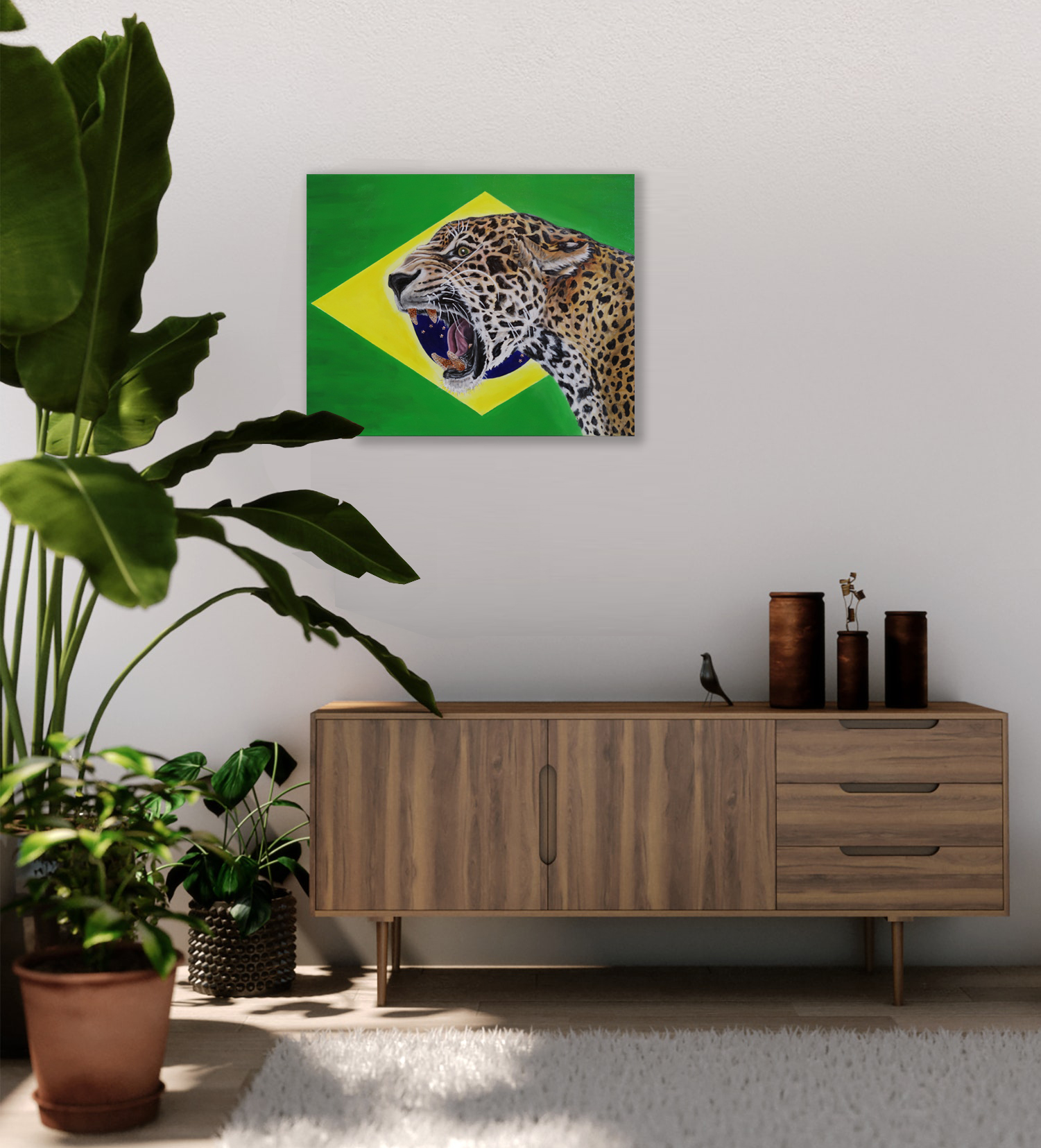 world cup artwork brazilian jaguar natal