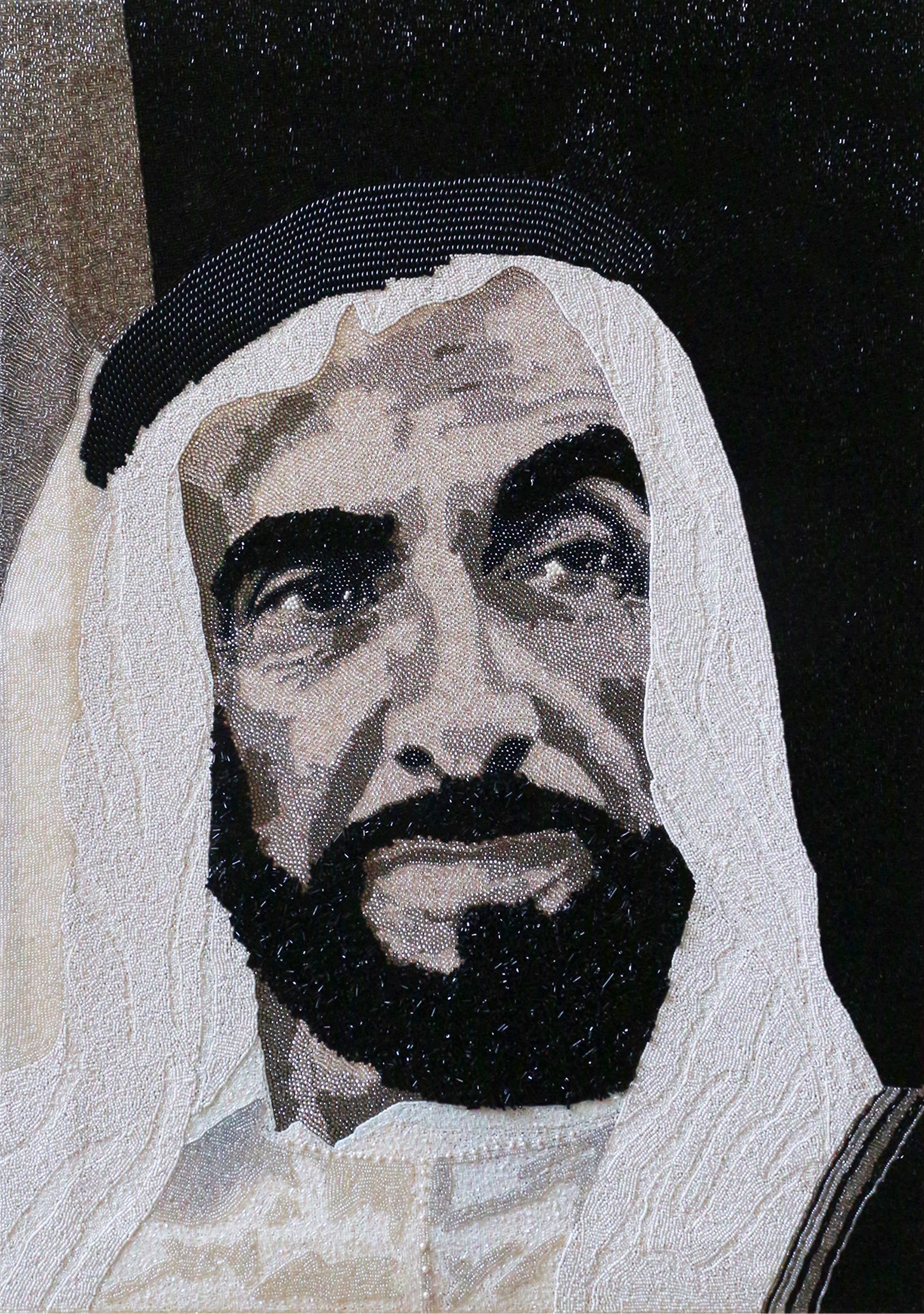 HH Sheikh Zayed Abu Dhabi Natalie Daghestani Swarovski Art6