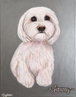 Jimmy Dog Pet Portrait Natalie Daghestani Art Dubai Artist3