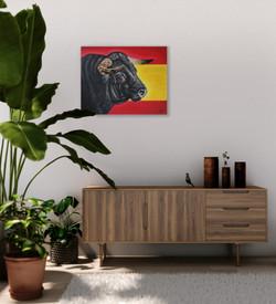 world cup artwork spanish torro bull nat