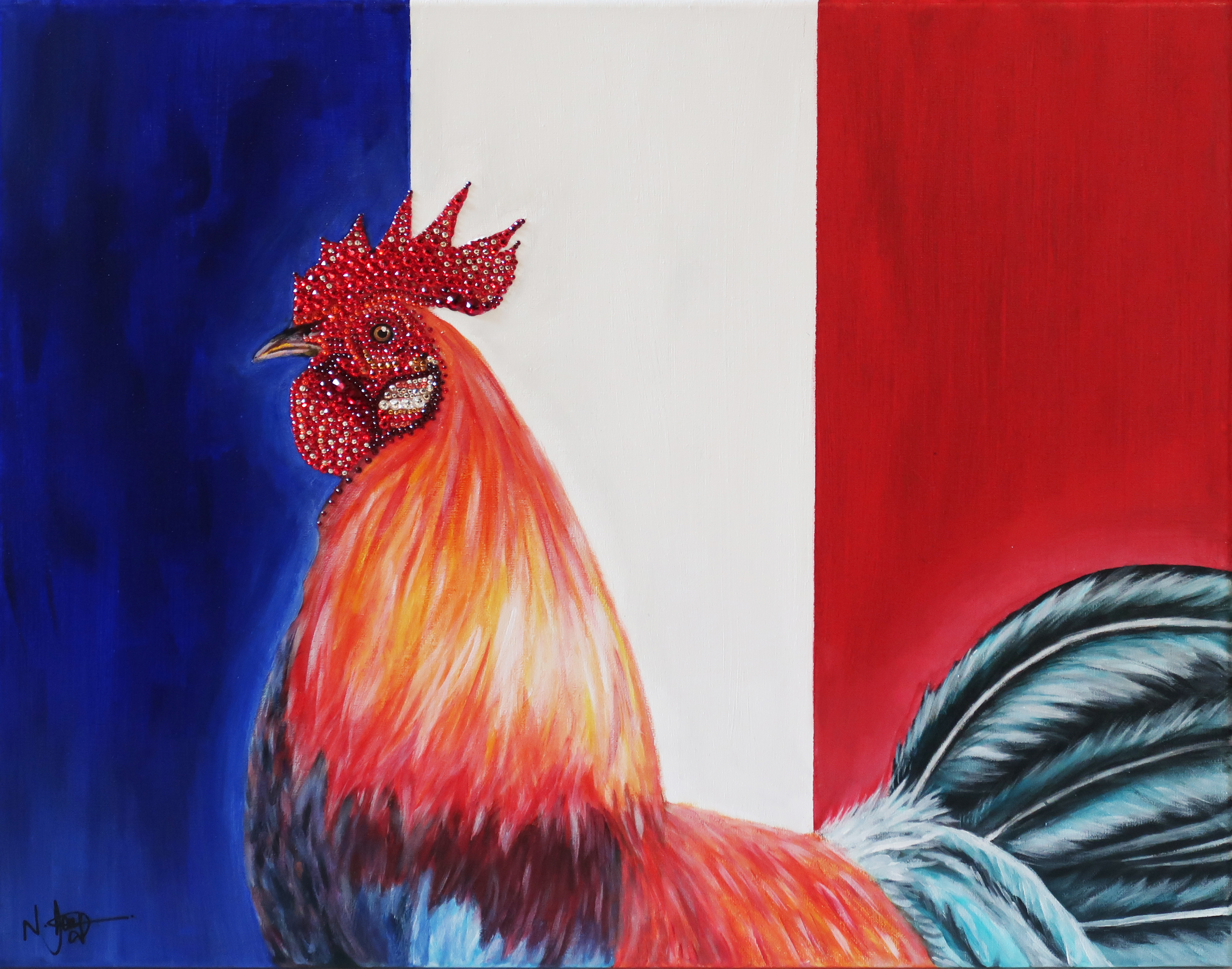 world cup artwork france rooster natalie