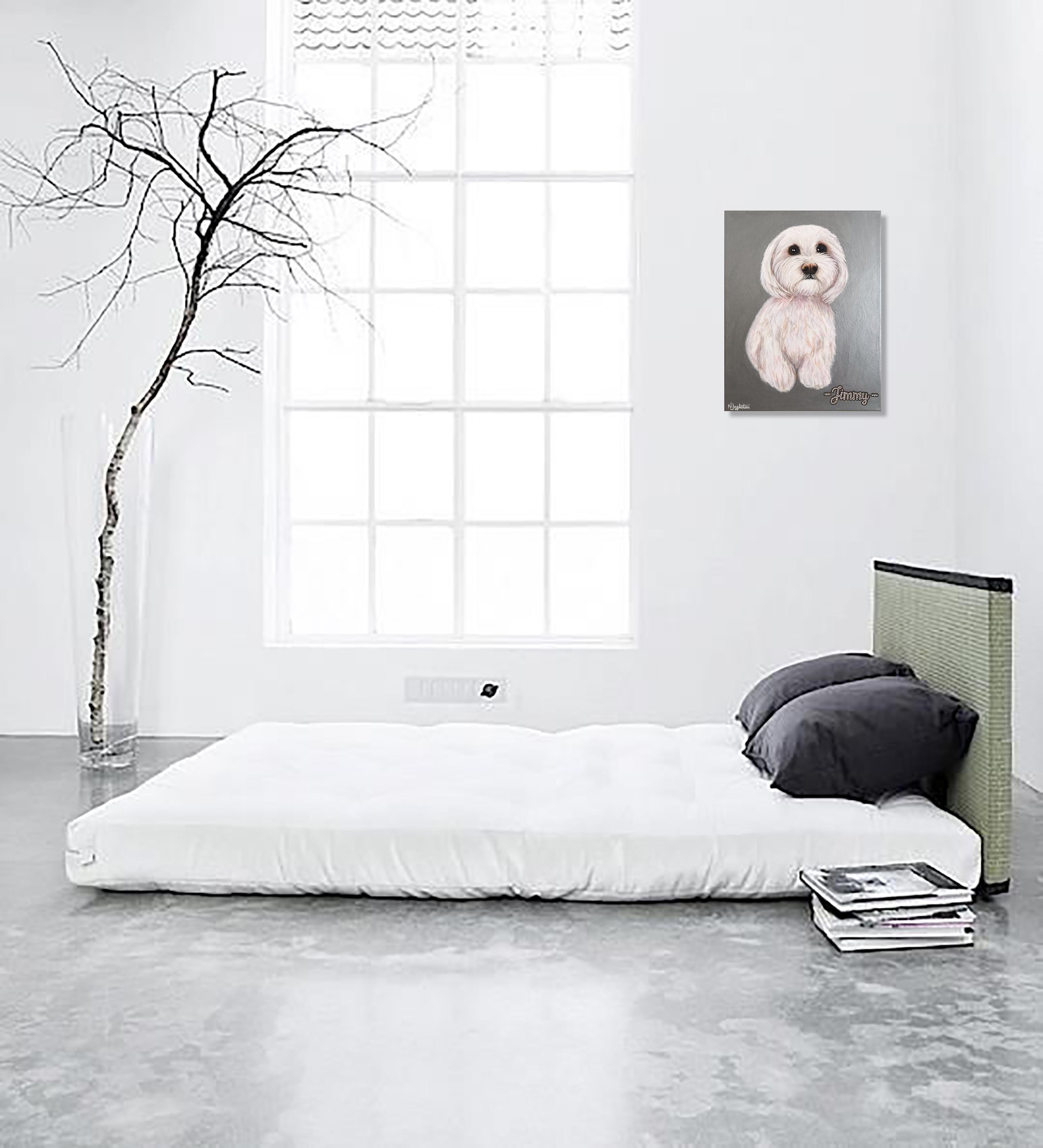 Jimmy Dog Pet Portrait Natalie Daghestani Art Dubai Artist8