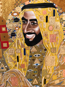 Portrait of His Highness Sheikh Zayed Natalie Daghestani Art Dubai Artist BSAB 13