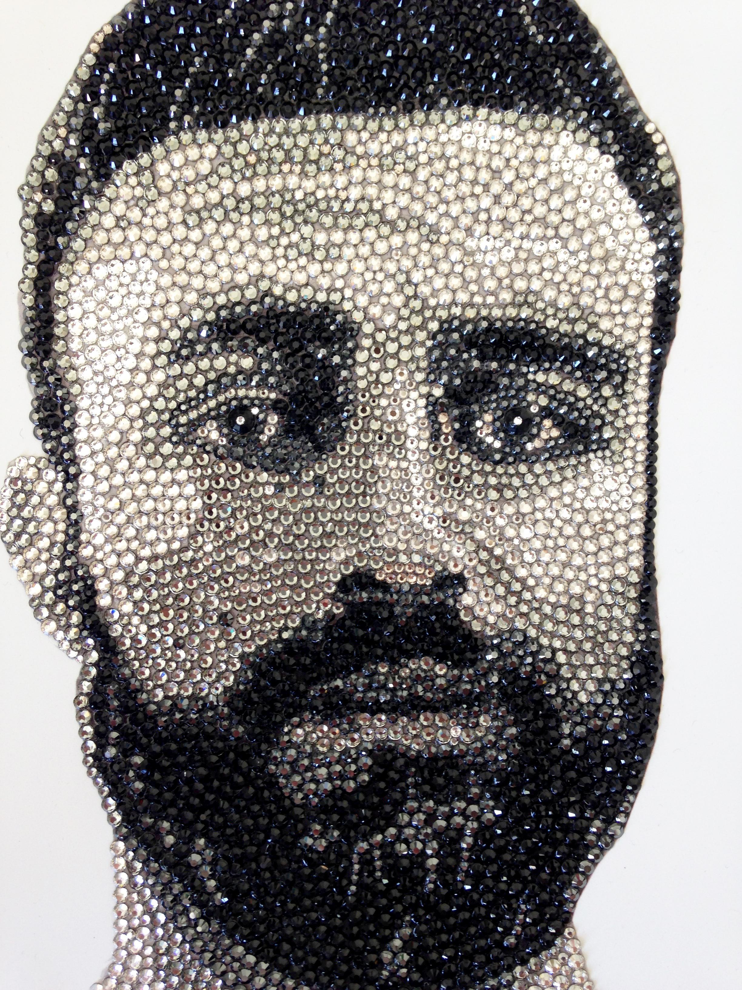 Private Commission Swarovski Portrait Natalie Daghestani Art4