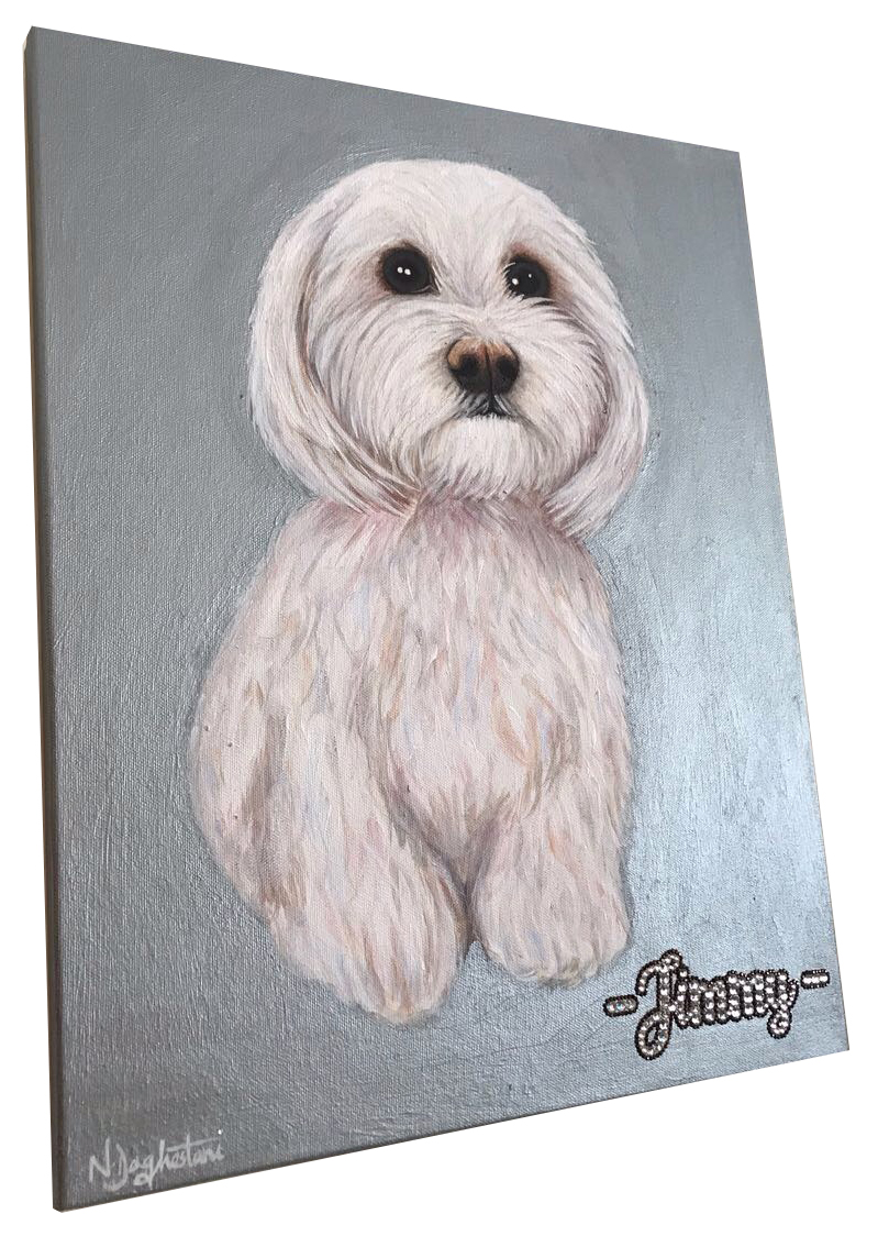Jimmy Dog Pet Portrait Natalie Daghestani Art Dubai Artist5