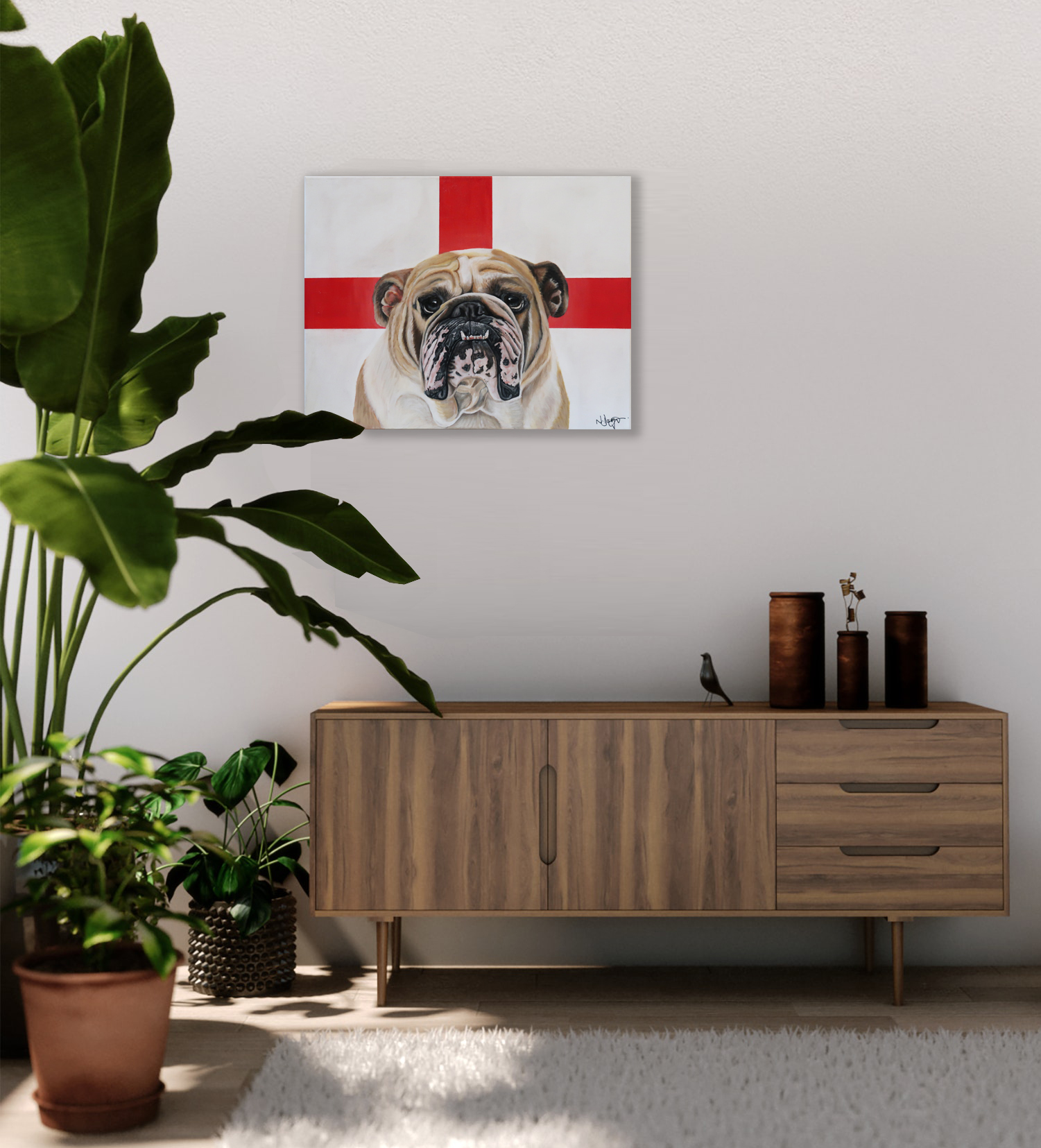 world cup artwork english bulldog natali