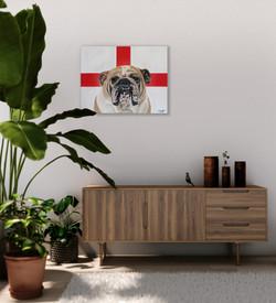 world cup artwork english bulldog natali