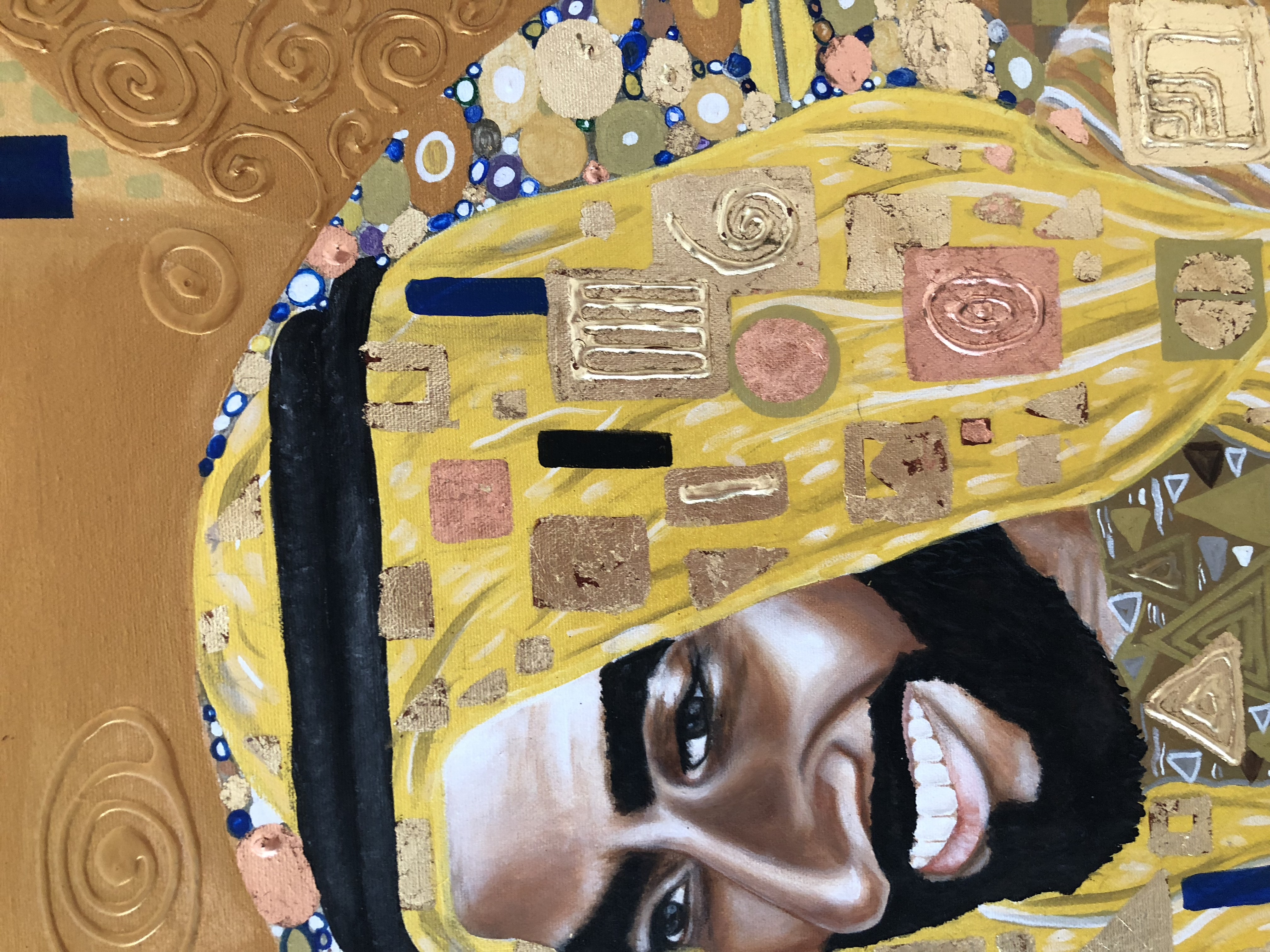 Portrait of His Highness Sheikh Zayed Natalie Daghestani Art Dubai Artist BSAB 12
