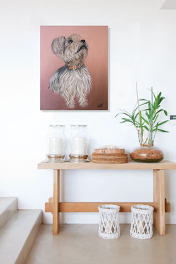 Luna Pet Portraits Natalie Daghestani Art Dubai Artist Dogs7