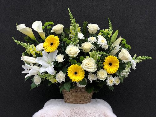 White & Yellow Basket