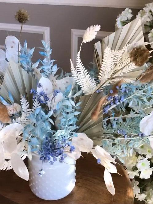 Blue Dried Flowers Arrangement