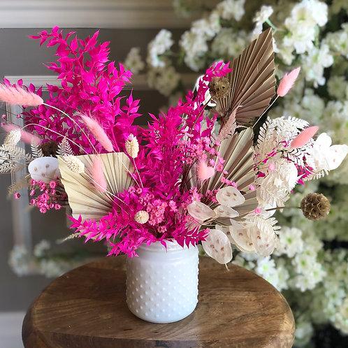 Pink Dried Flowers Arrangement
