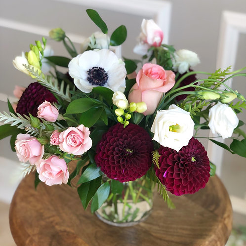 Burgundy & Pink Vase Arrangement