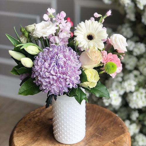 Lovely White Vase Arrangement (Tall)