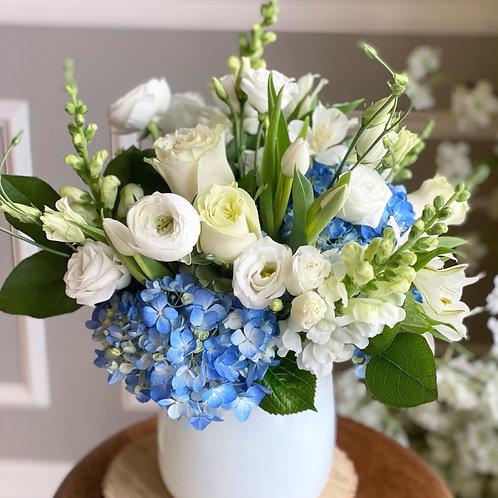White &  Blue Arrangement