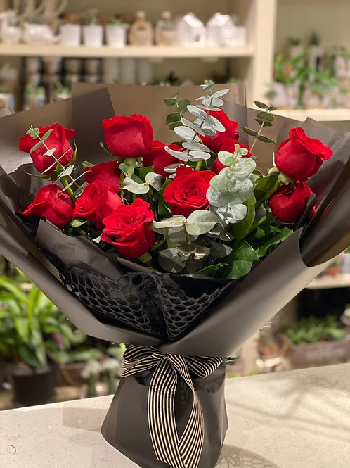 Red Rose Bouquet (12 or 24 Roses)