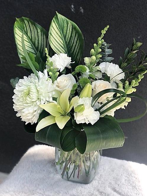 White Vase Arrangement #1