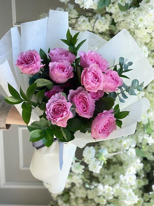 Garden Roses Bouquet (6 Stems or 12 Stems)