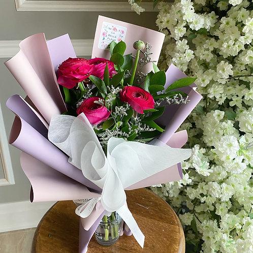 Ranunculus Bouquet (5Stems, 10stems)