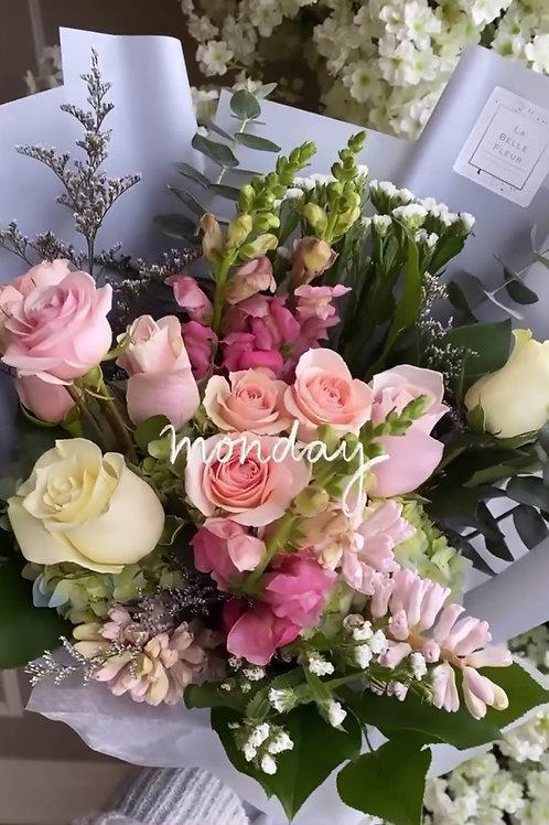 Pink & Blue Bouquet