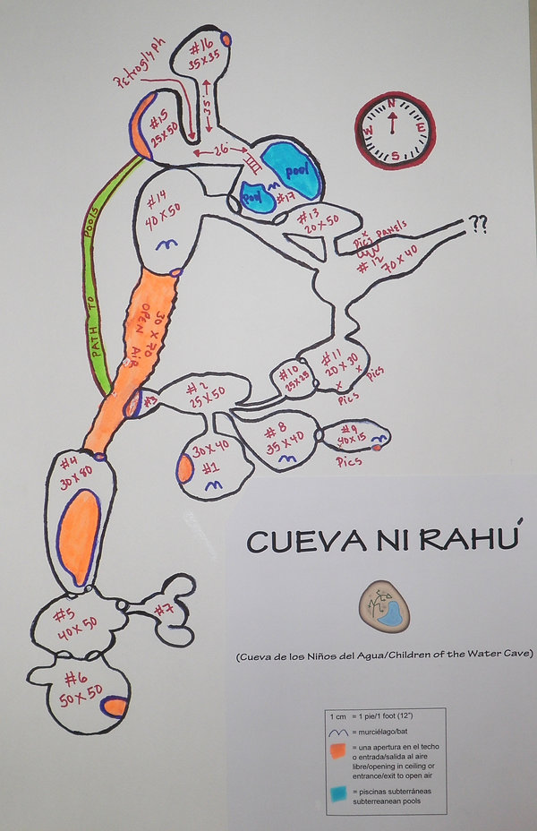 Taino Cave Nirahu map, day trp