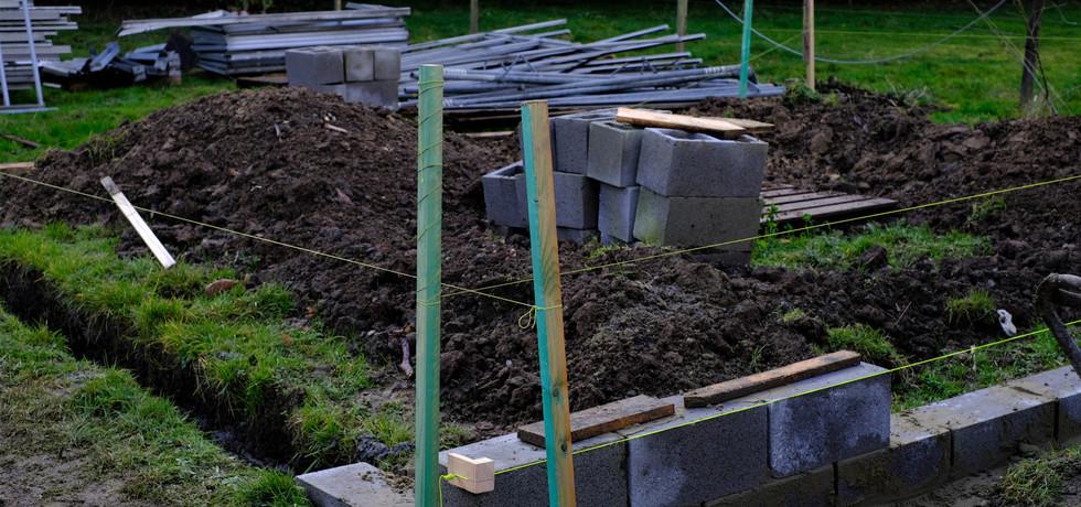 Une nouvelle serre en construction