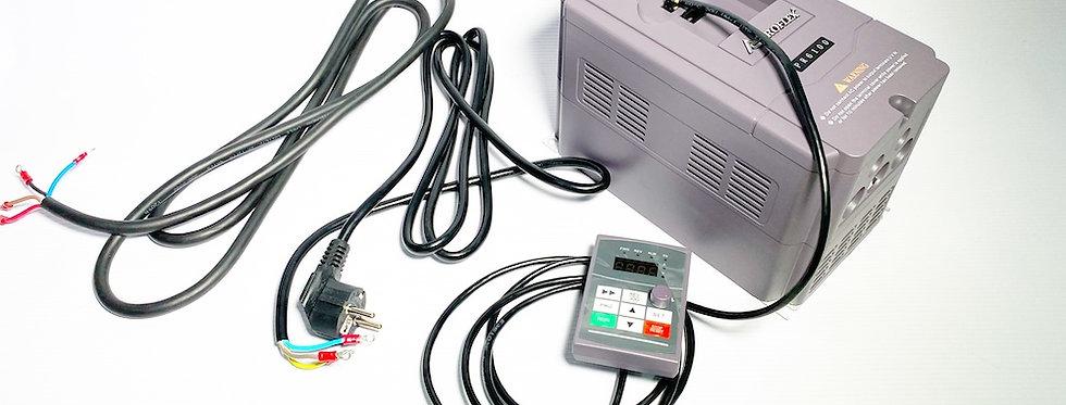 Частотный преобразователь 2.2кВт PROFLEX + шлейф + комплект для подключения 220