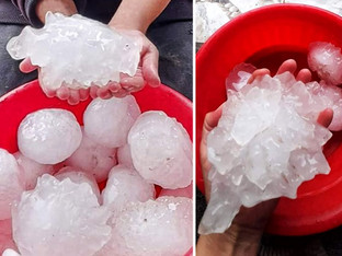 ONE HAIL OF A STORM, CHECK OUT THESE STONES...