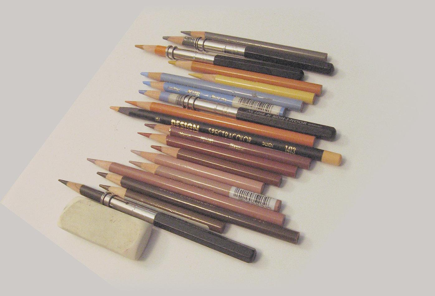 colored art pencils