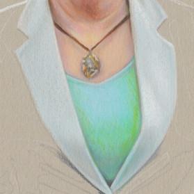 """""""Gwen & Kent"""" portrait in progress 4"""