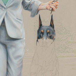 """Gwen & Kent"" portrait in progress 6"