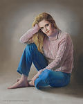 Fine Art portrait of a young woman in casual clothes
