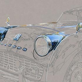 Triumph TR3 portrait in progress 2