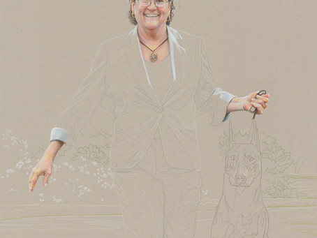 """""""Gwen & Kent"""" portrait in progress 3"""