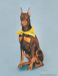 Fine Art portrait of a red Doberma