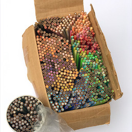 Studio Tour: A very old box of colored pencils