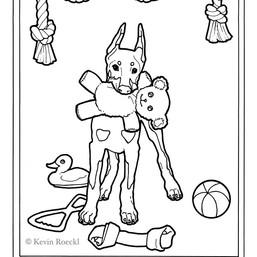 Doberman Puppies Coloring book