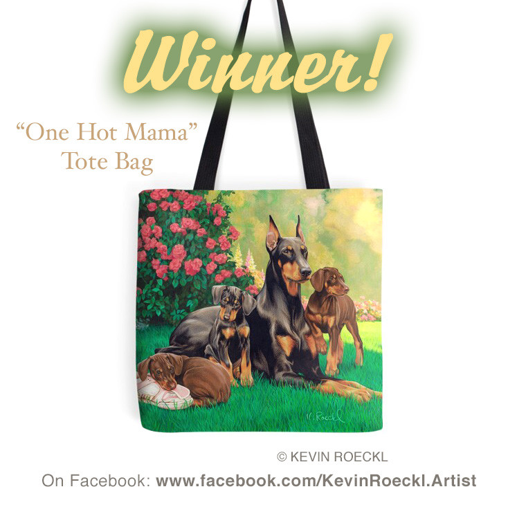 """Kevin Roeckl's """"One Hot Mama"""" Tote bag, available on Redbubble"""