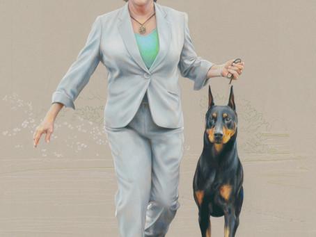 """""""Gwen & Kent"""" portrait in progress 8"""