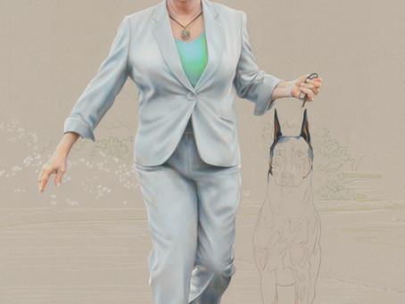 """""""Gwen & Kent"""" portrait in progress 5"""