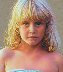 Fine art portrait of young girl