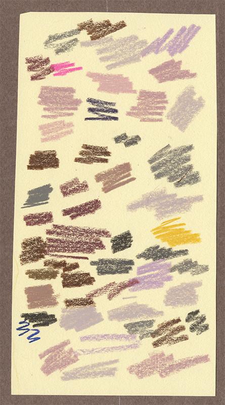 pencil scribbles on scrap paper