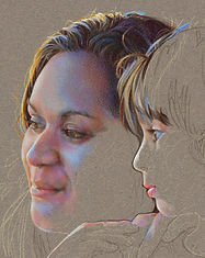 Fine art portrait of sister and brother