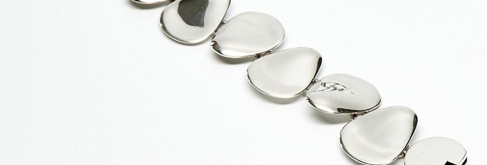 Row of Curved Petal Bracelet