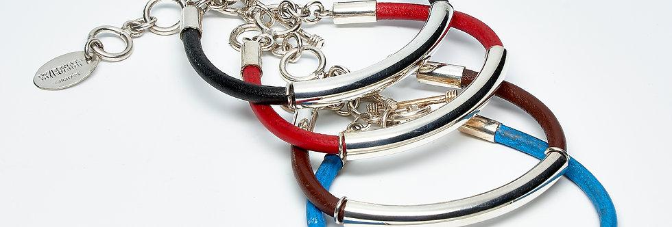 Tube Leather Bracelet