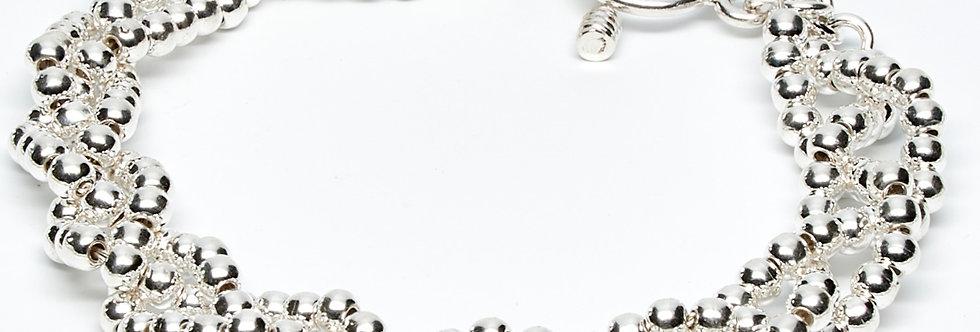 Braided 2MM Beaded Bracelet